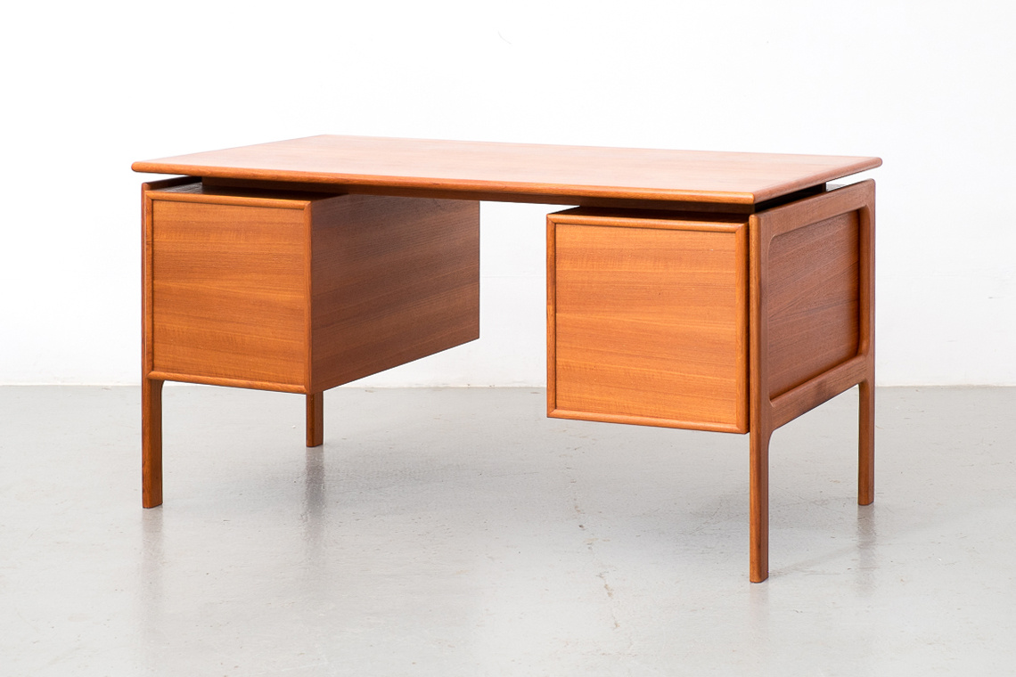 Danish Teak Desk by Arne Vodder for G.V Møbler