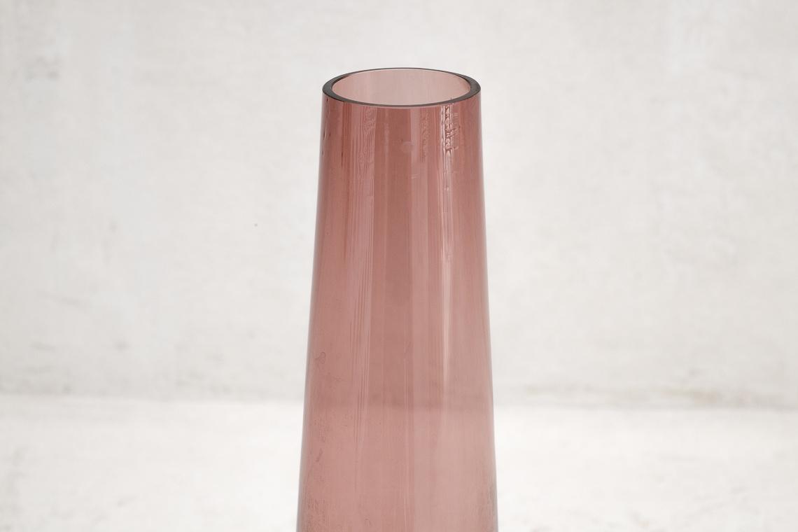 Mid-Century Purple Glass Vase by Ingrid Glas