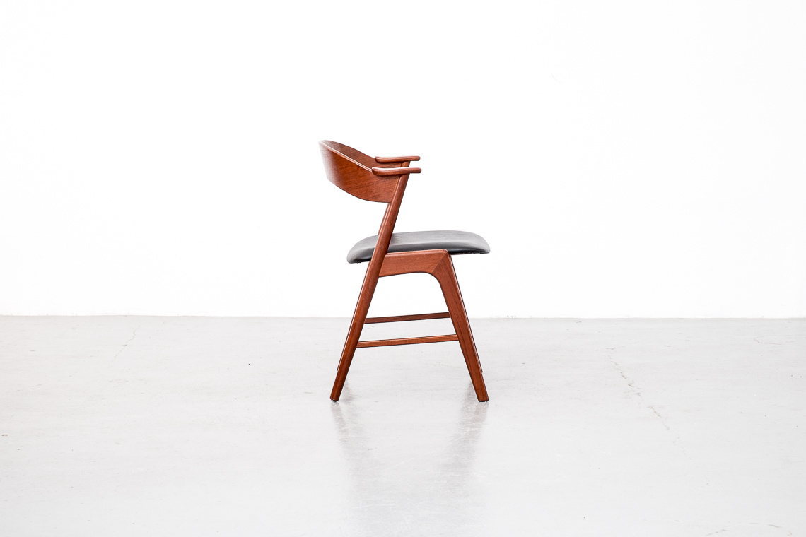 Set of 6 dinner chairs by Kai Kristiansen for Korup Stolefabrik
