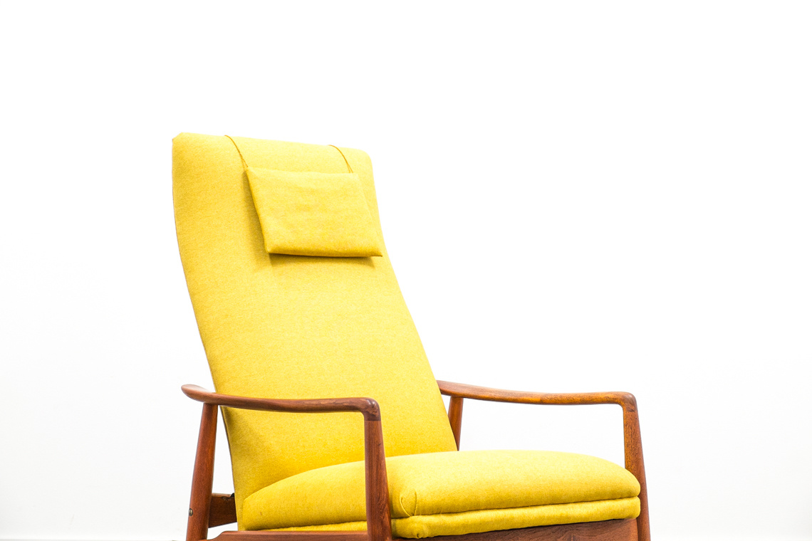 Danish Reclining Lounge Chair by