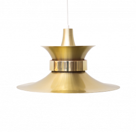 aluminium gold Pendant Light by Bent Nordsted from Lyskaer Belysning