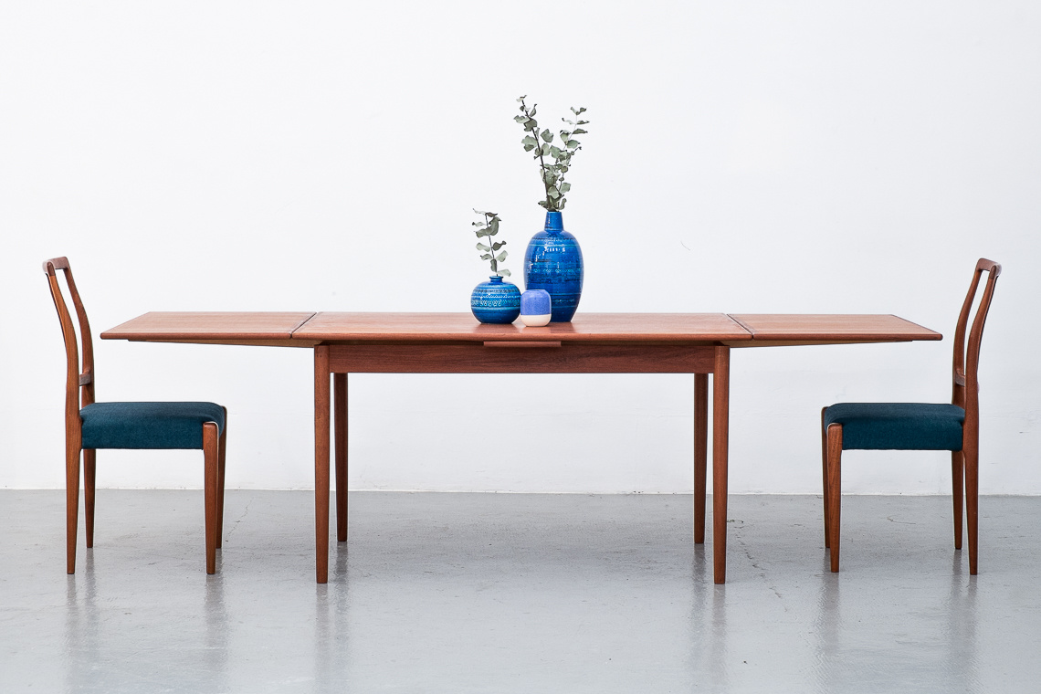 Danish Extending Teak Table From A.M. Mobelfabrik
