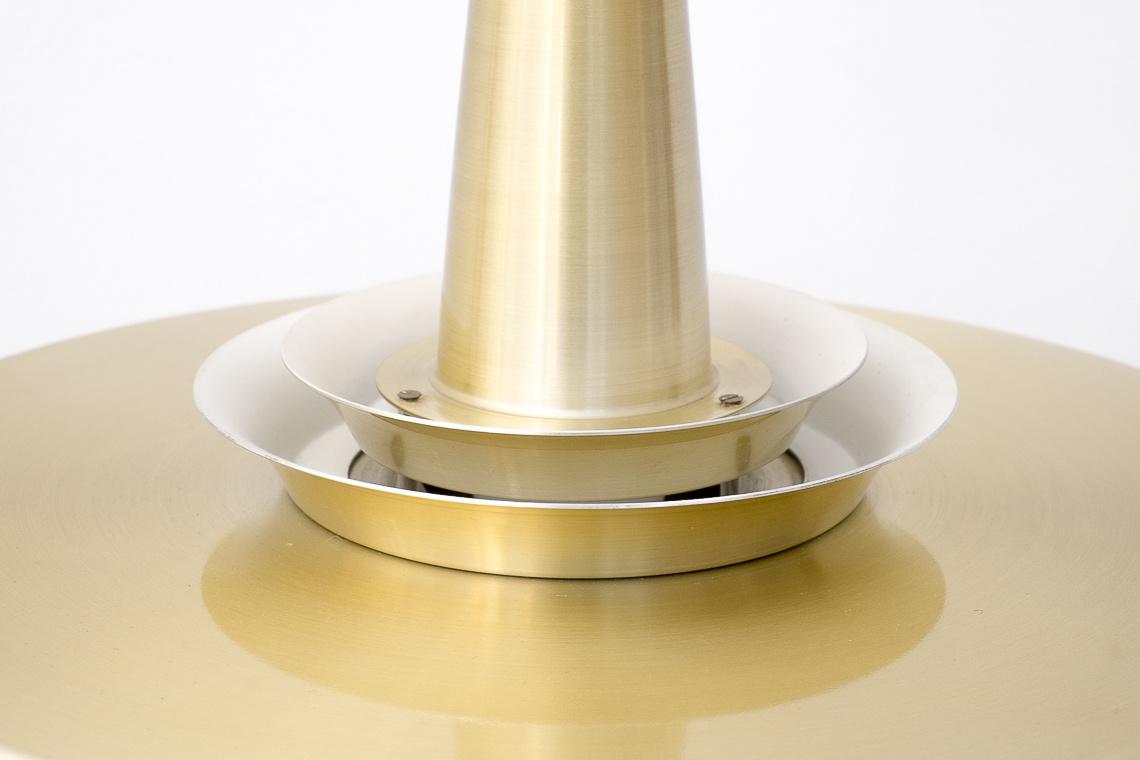 DANISH PENDANT LAMP IN GOLDEN ALUMINIUM BY Lyskaer