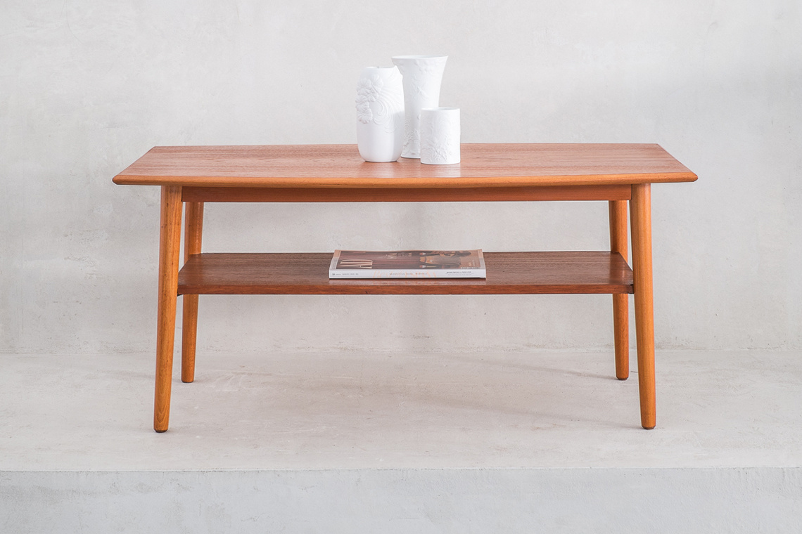 teak coffee table MADE IN ENGLAND