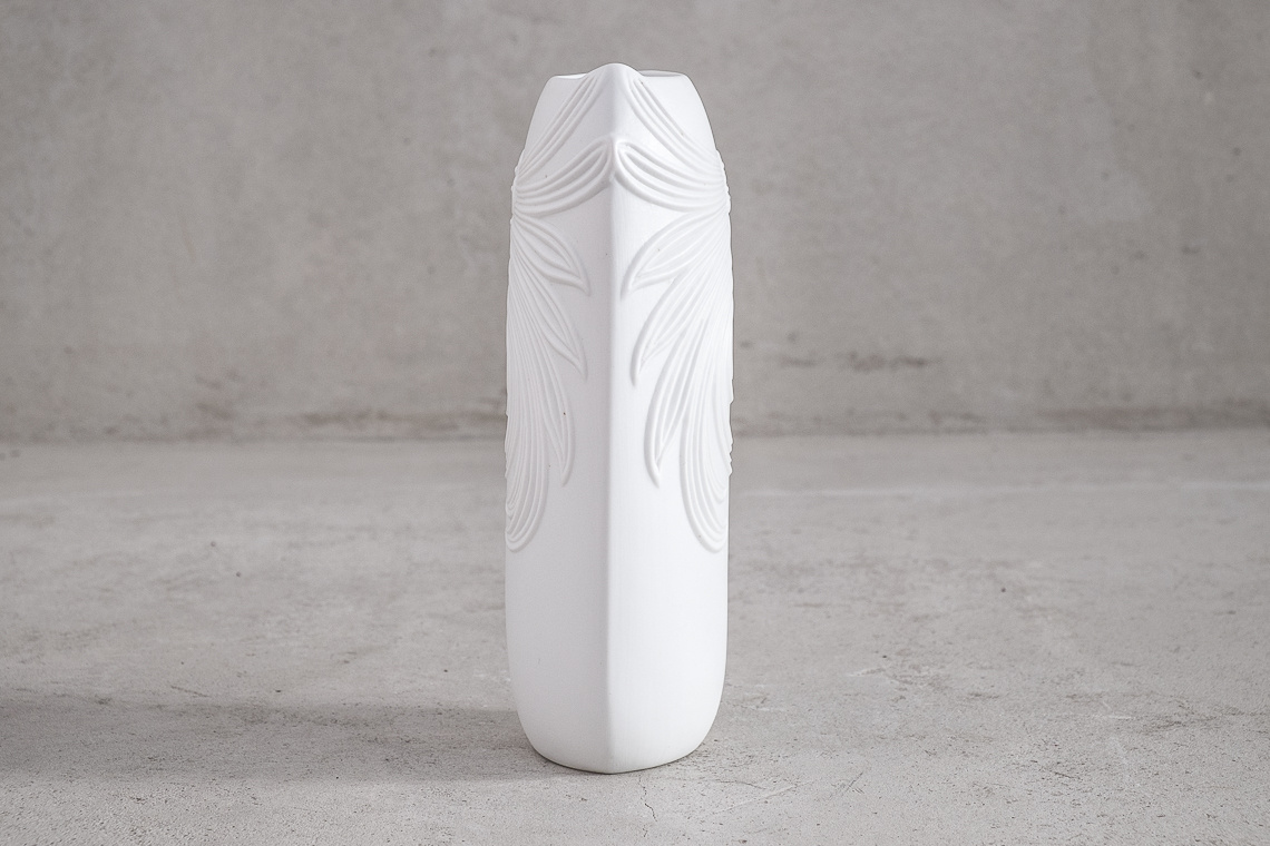 German Bisque Porcelain Vase by Manfred Frey for a K Kaiser