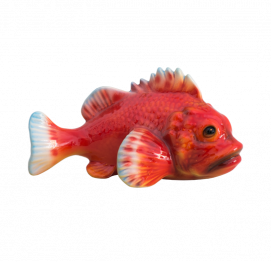 red scorpionfish (10x18cm) Ceramic Italy Sculpture