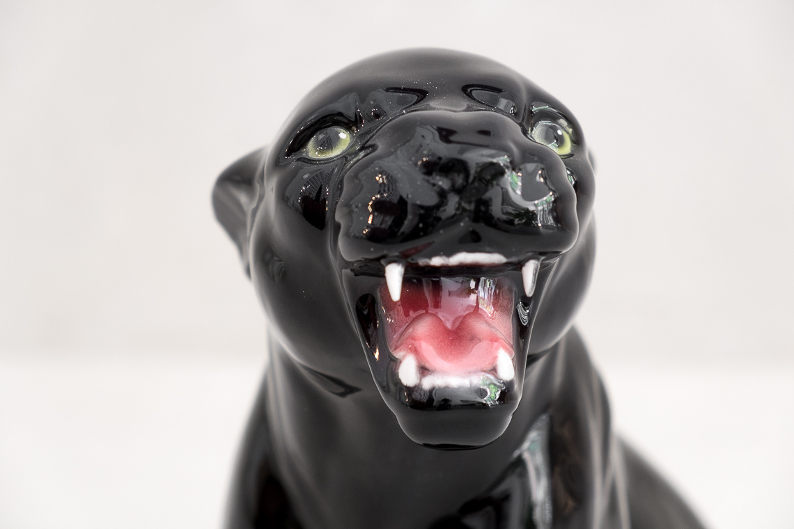 baby Black Panther (30CM) italian ceramic sculpture