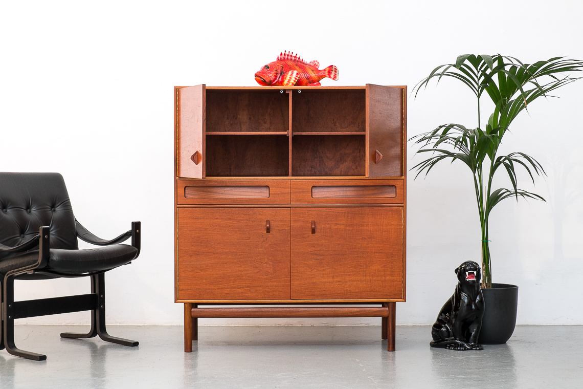 Midcentury Teak Drinks Cabinet by Tom Robertson from MCINTOSH