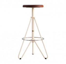HIGH STOOL 274B WOODEN & METAL BY ADICO