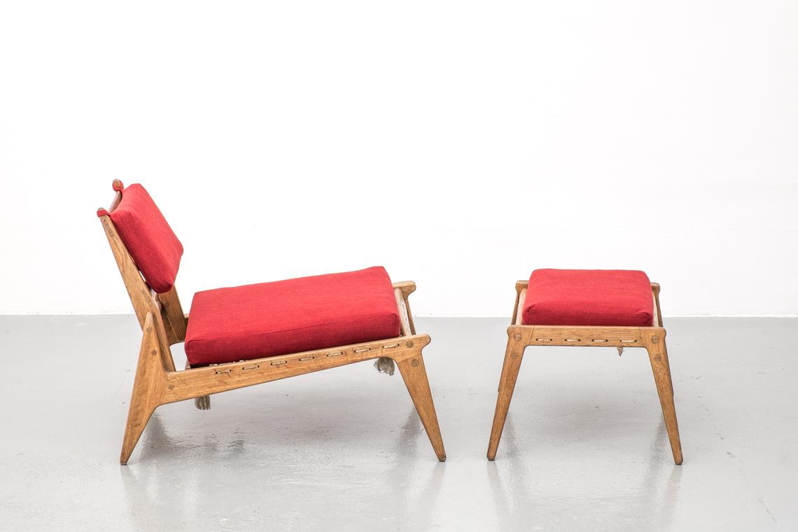 Chair and Ottoman Mid Century Modern