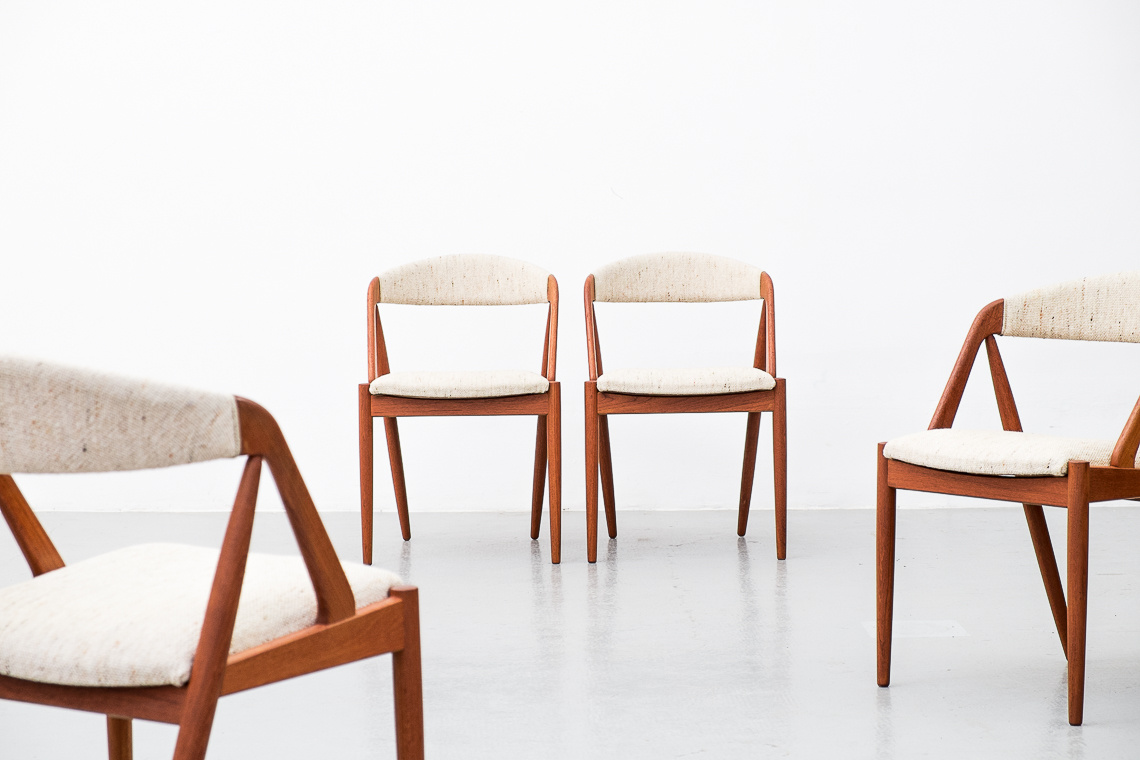Set of 4 chairs Model 31 by Kai Kristiansen for Schou Andersen