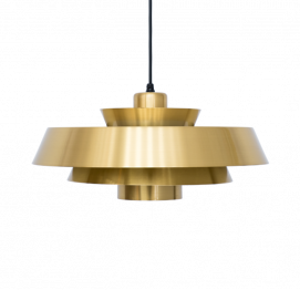 Brass Nova Pendant Light by Jo Hammerborg for Fog & Mørup