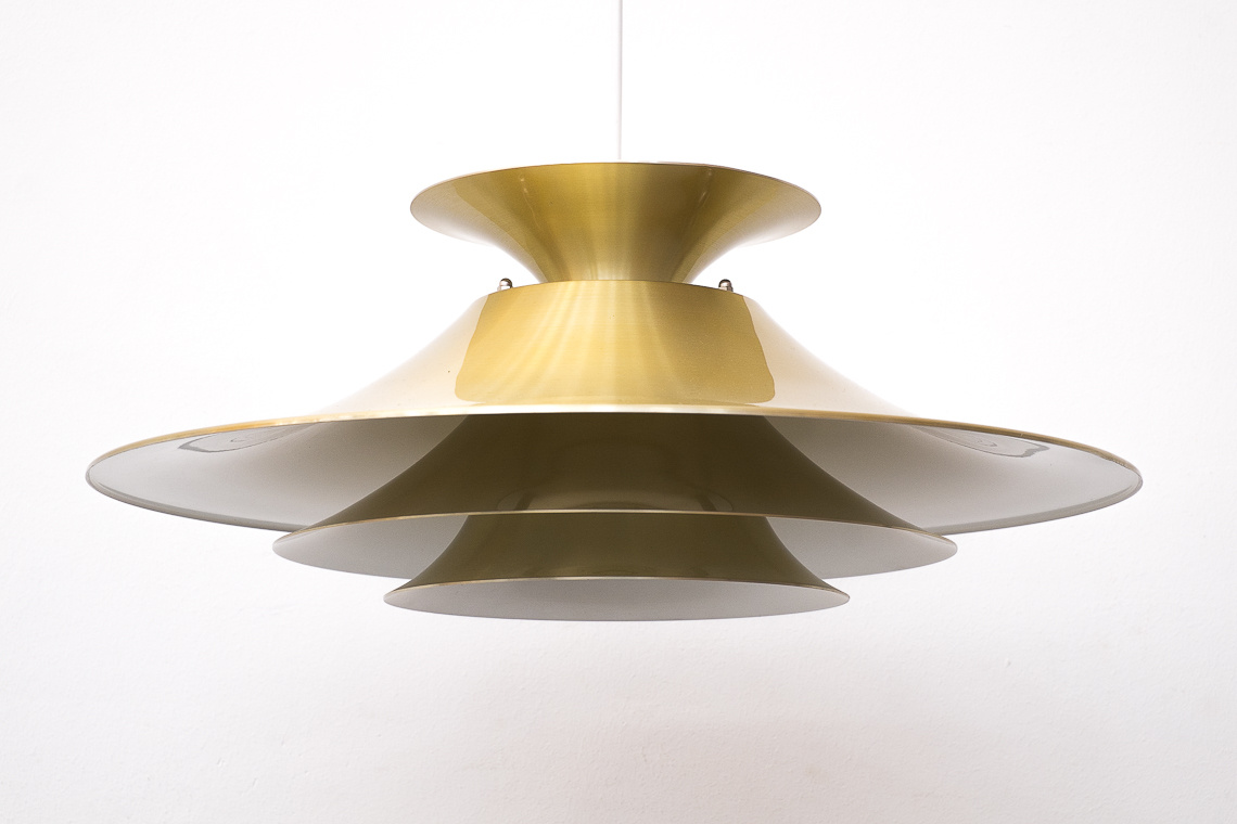 Mid-Century Danish GOLDEN Pendant LAMP from JEKA Denmark