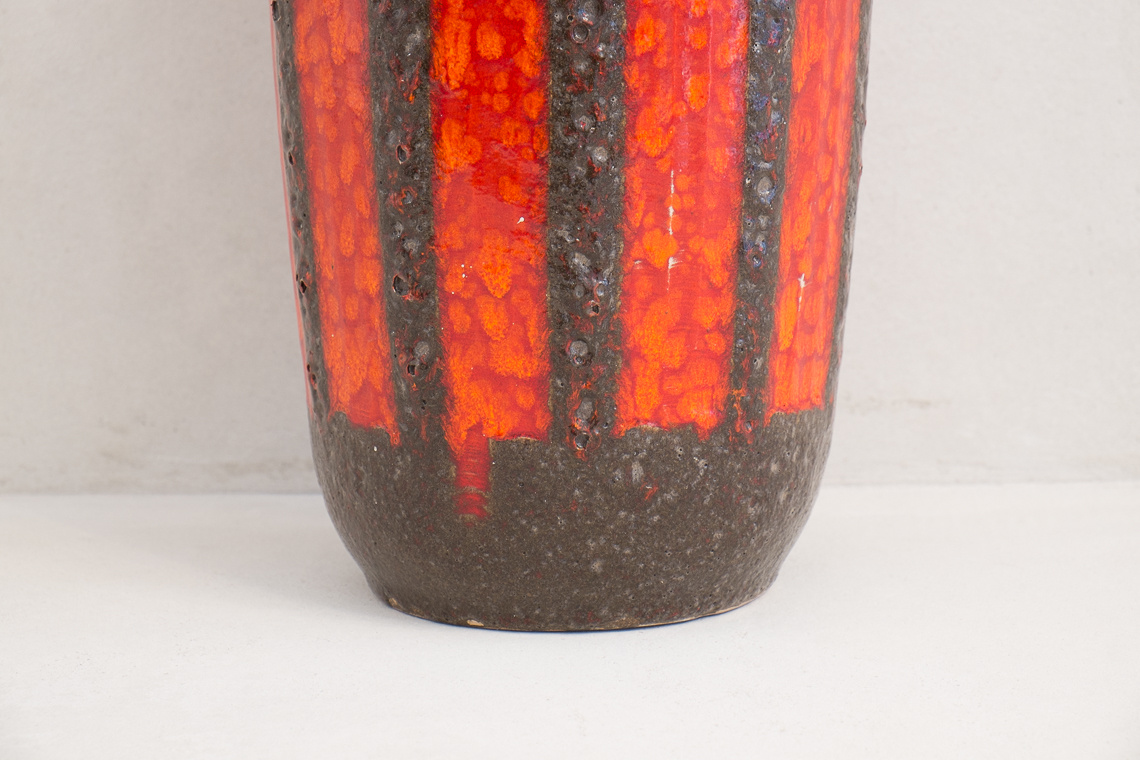 West German Fat Lava Vase from Scheurich