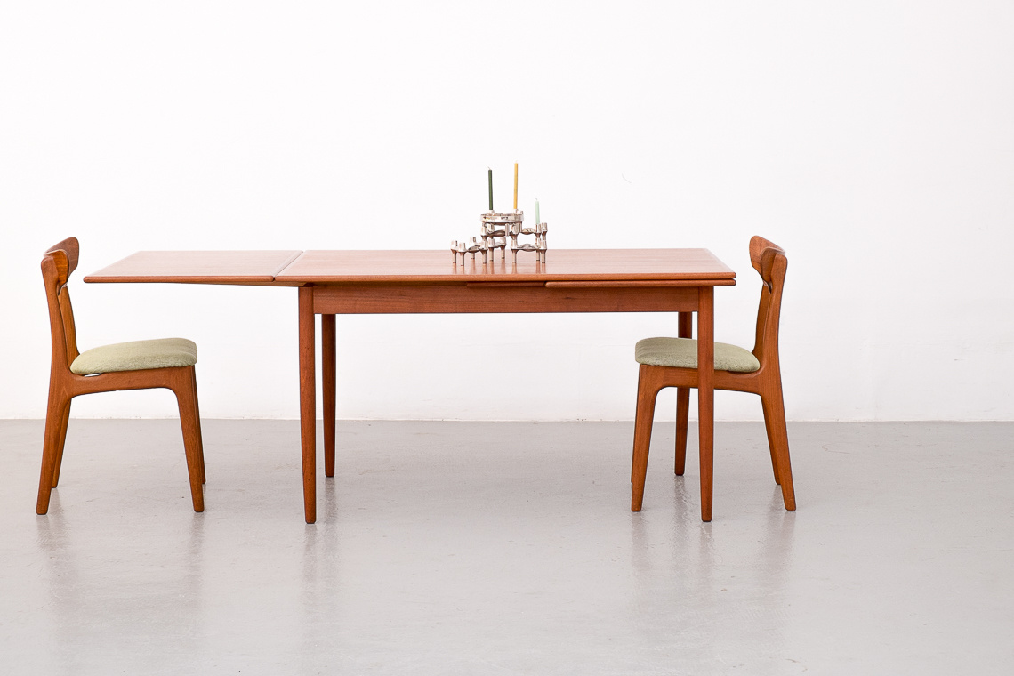 Danish Teak Extendable Dining Table, 1970s