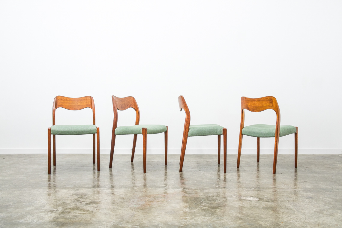 SET OF 4  DINNER CHAIRS BY NIELS OTTO MØLLER