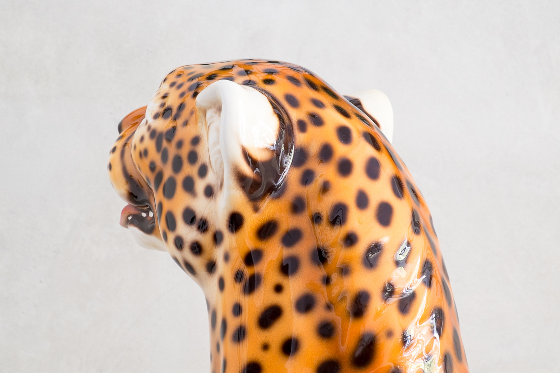 BIG Ceramic Cheetah Sculpture