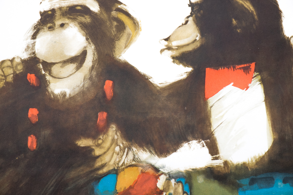 Original Polish circus poster by Maciej Urbaniec