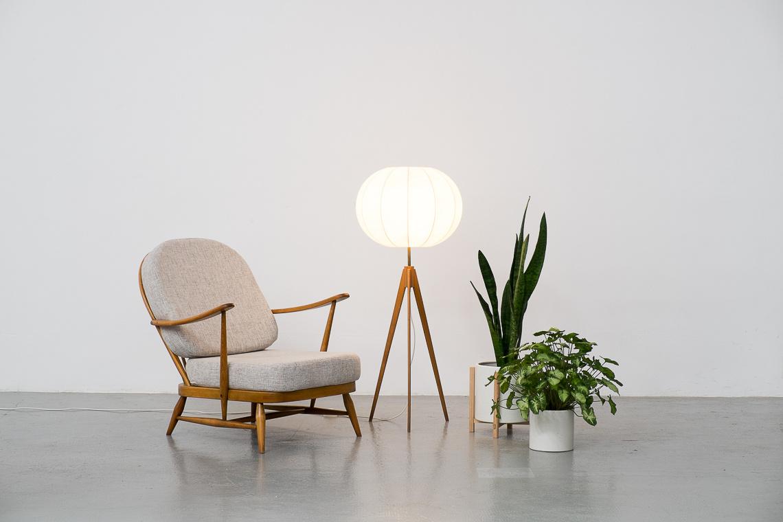 COCOON Tripod FLOOR LAMP Mid Century Danish Modern