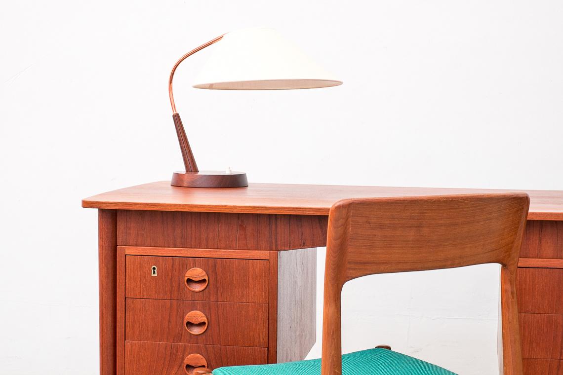 Danish Double Sided Teak Desk