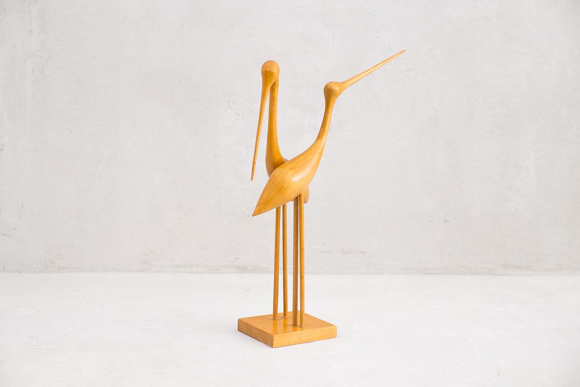 Cranes Wood Sculpture