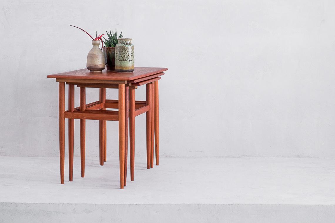 Danish mid century nest table