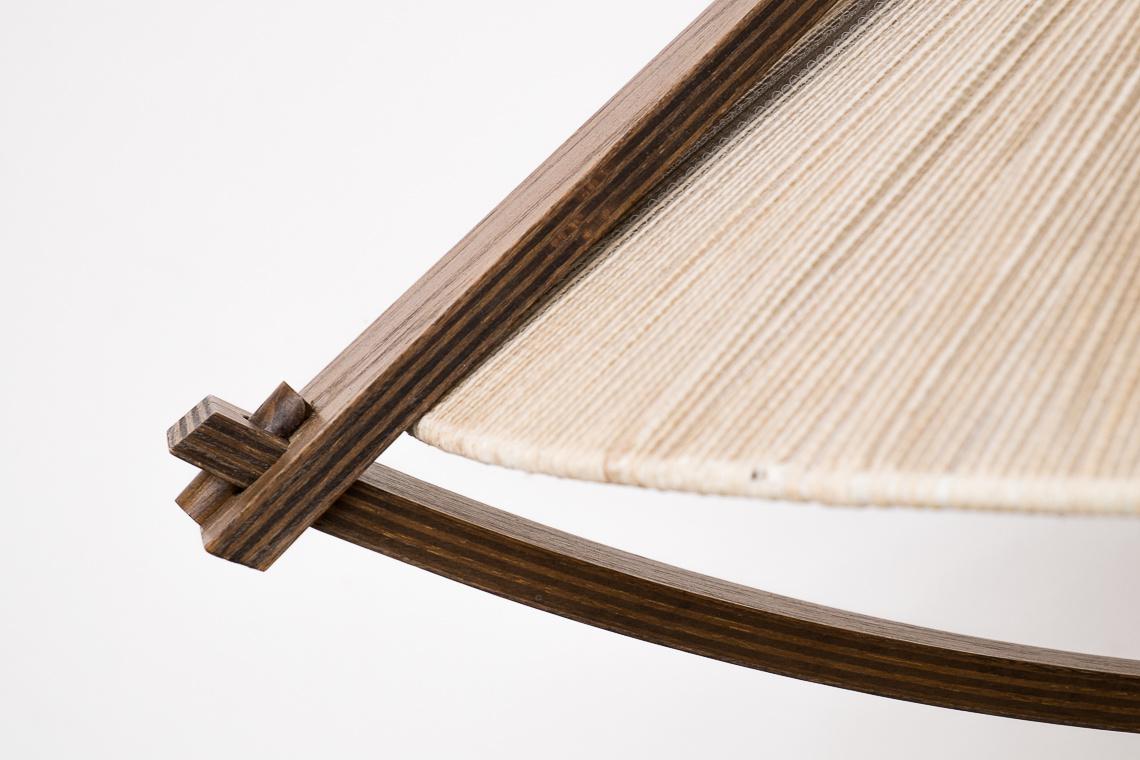 Mid-Century Teak & Sisal Pendant Lamp from Temde