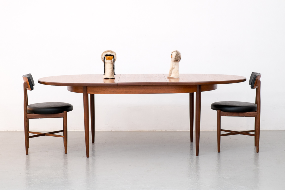 oval extending dining table by G plan