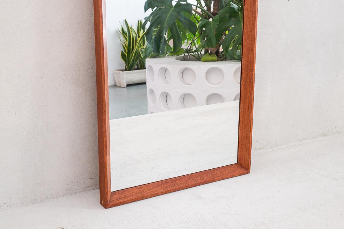 Mid-Century Danish teak Mirror by A.M. Spejle