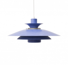CAPRI blue hanging lamp by Jeka Metaltryk