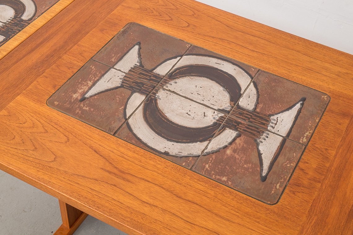 Extending Dining Table Teak & Ceramic from Gangsø Møbler