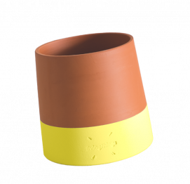 ROLLING FLOWER POT Voltasol Medium Yellow