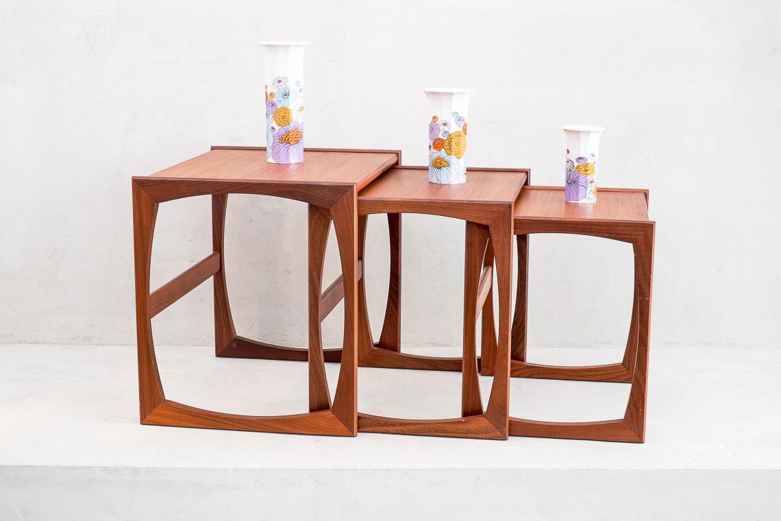 Quadrille Teak Nesting Tables by Robert Bennett for G-Plan