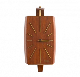 Teak Wall Clock from Dugena