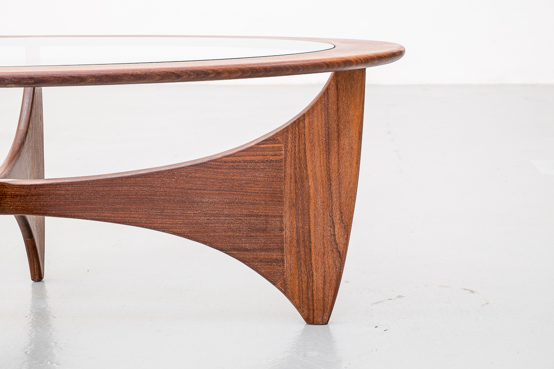 Mid Century Modern G Plan Oval Teak Astro Coffee Table