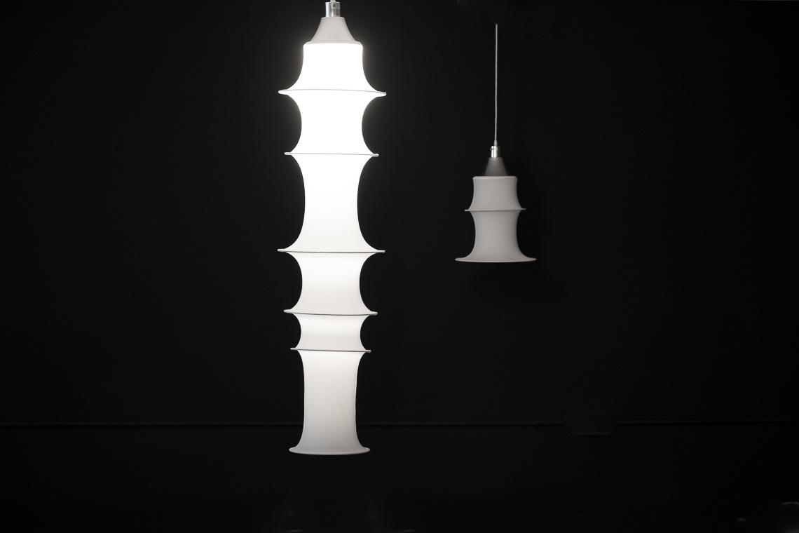 Bruno Munari Falkland hanging lamp by Danese Milano