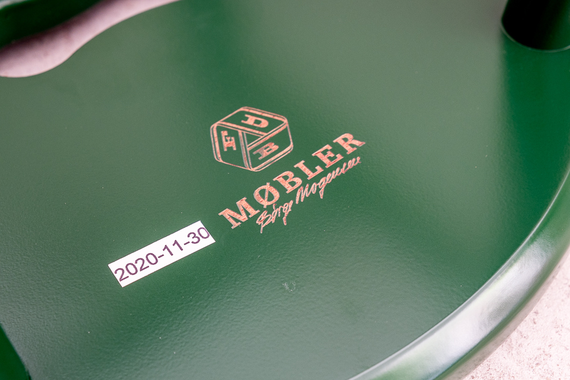 GREEN Stool J27 by Børge Mogensen FOR FDB Møbler