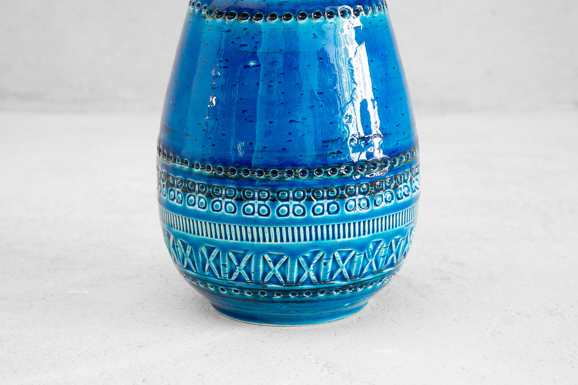 CERAMIC VASE Bottiglia (H24CM) FROM RIMINI BLUE SERIES BY ALDO LONDI FOR BITOSSI