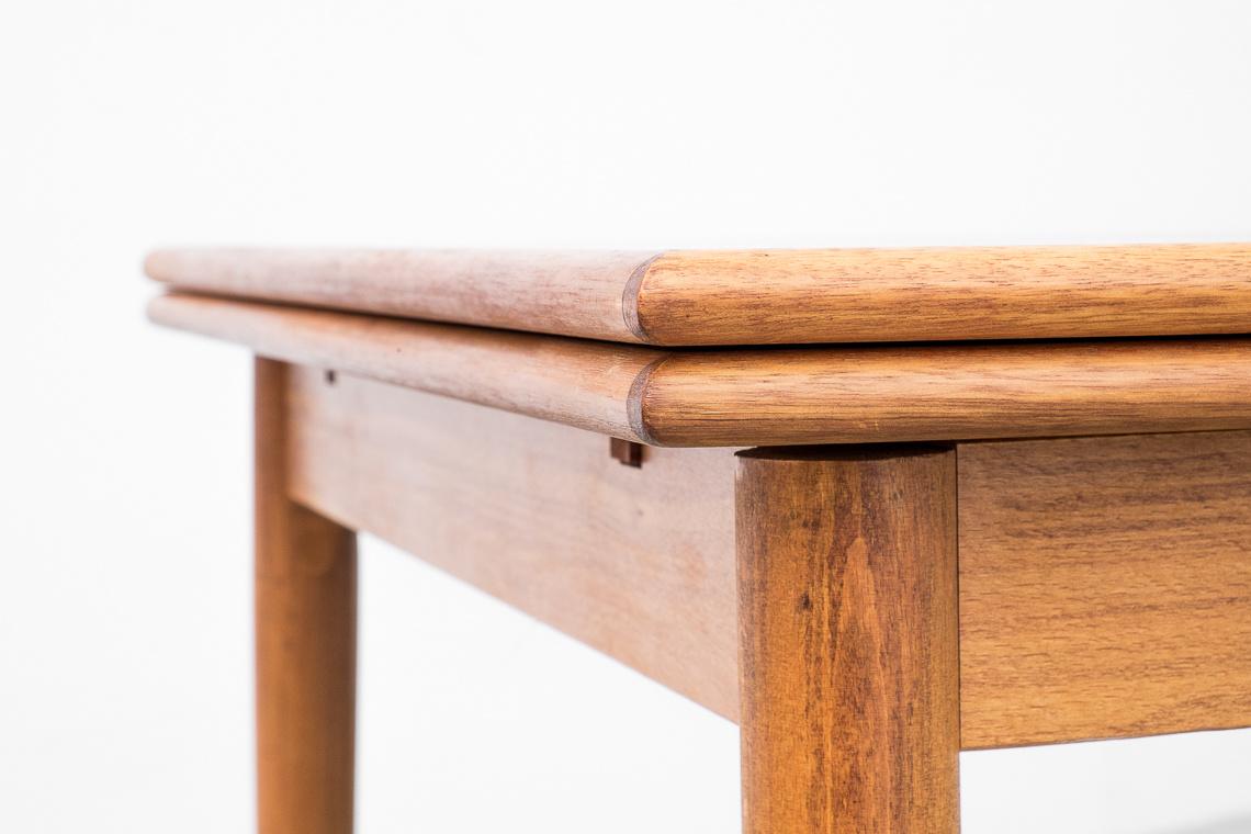 Danish Teak Extendable Dining Table, 1970s