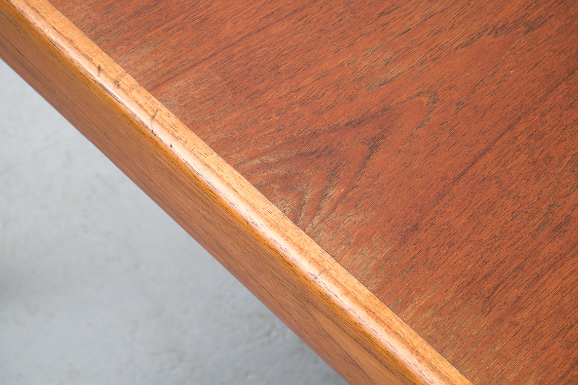 TEAK DINING TABLE WITH EXTENSION BY H.W. KLEIN FOR BRAMIN