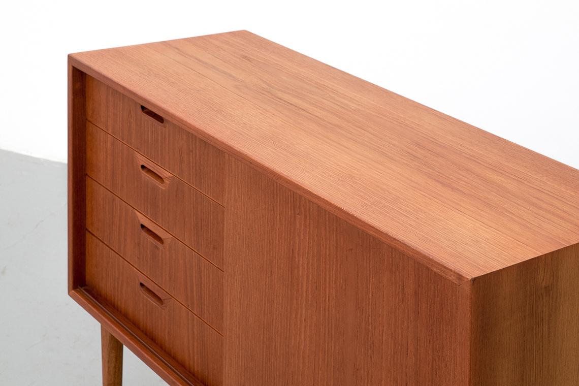 Teak Small Sideboard by Sven Ellekaer for Albert Hansen Møbelfabrik