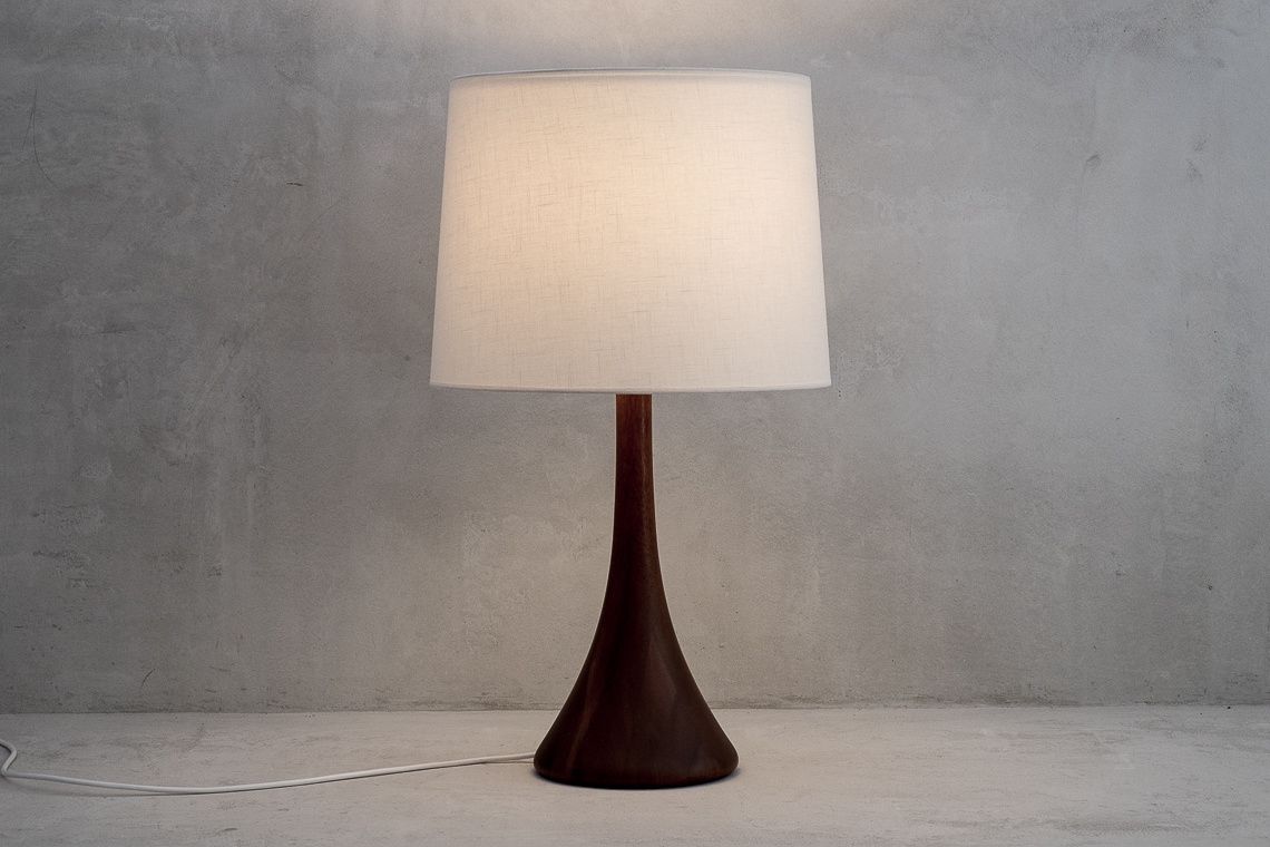 Big Danish Teak Table Lamp from Dyrlund