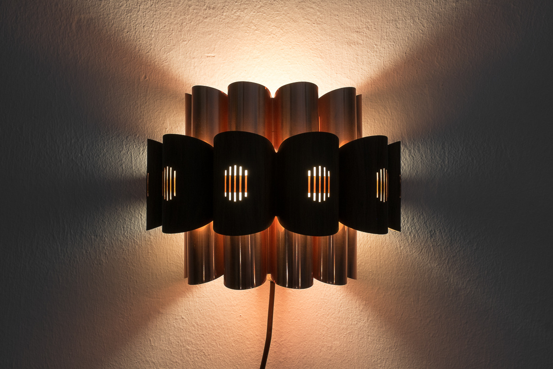 Copper Sconce by Werner Schou for Coronell Elektro