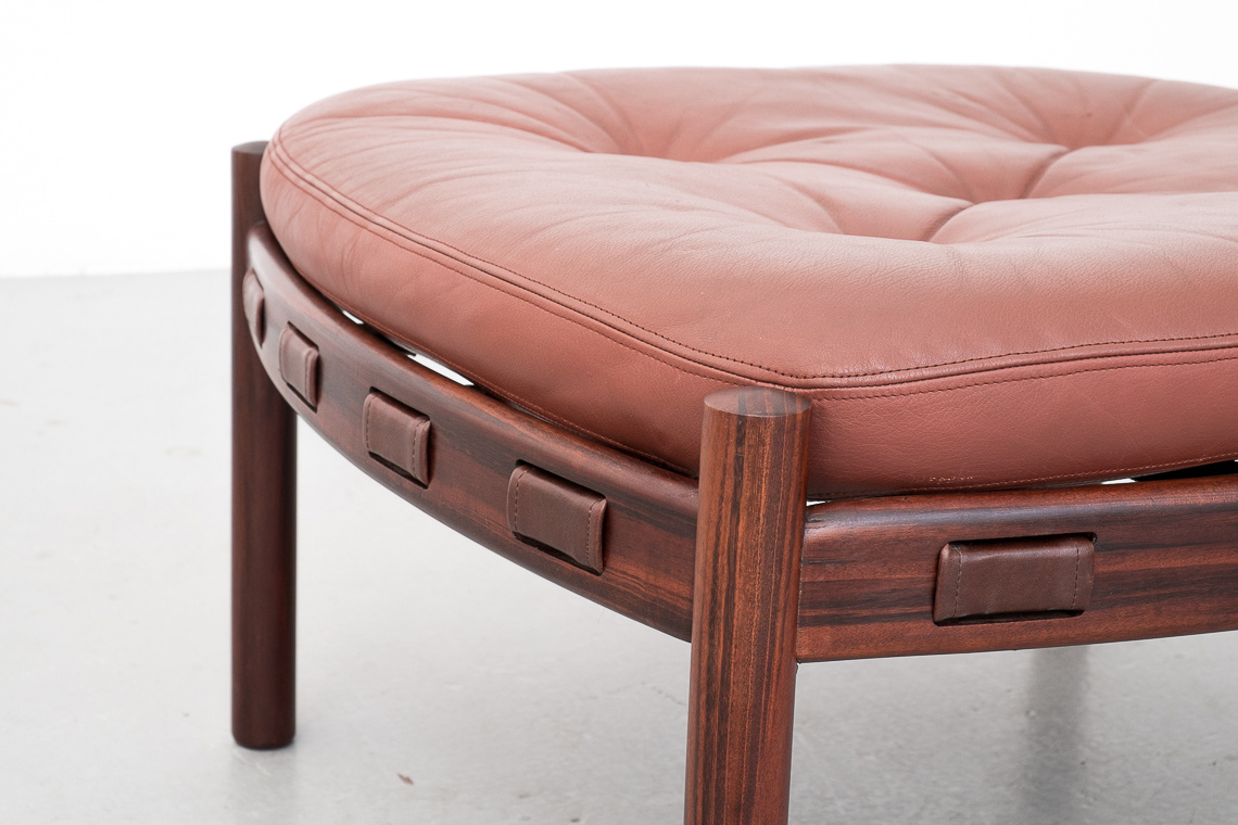 Footstool By Swedish Designer Arne Norell For Coja
