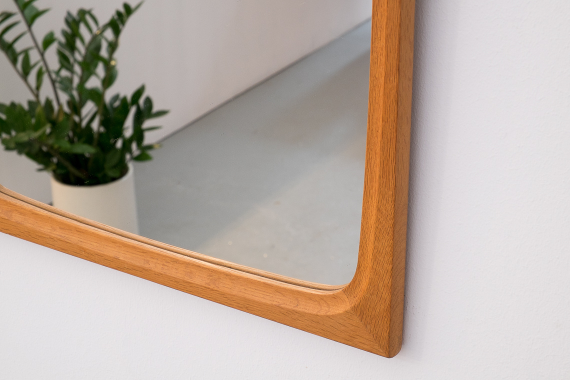 Mid-Century Danish oak Wall Mirror