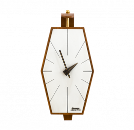 Mid-Century Electric Wall Clock from Dugena