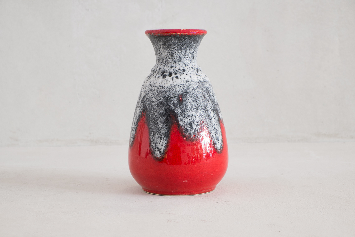 FAT LAVA VASE FROM BAY KERAMIK