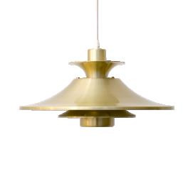 Golden Aluminum Pendant Lamp from Lyskaer Denmark