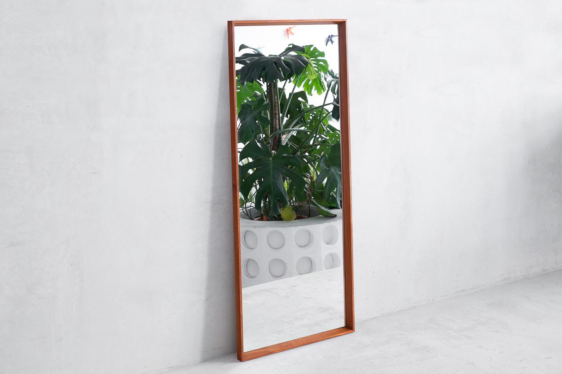 Large Teak Framed Mirror from TW SPEJLET DENMARK