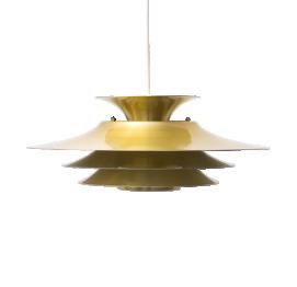 Mid-Century Danish GOLD PENDANT LAMP of FRANDSEN